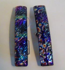 Barrette-Multi-colored Dichroic Ripple
