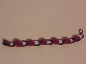 Nugget Bracelet-Pink/Brown