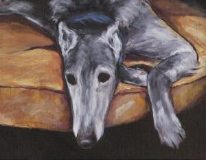 7x9 greyhound lounging joan frimberger uf250 taxmhq