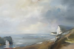 13. Durdle Door on a Misty Day