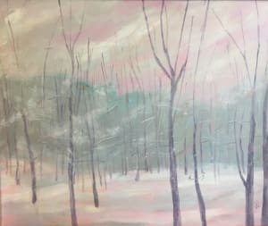 """Through the White and Drifted Snow""""   24x30"""