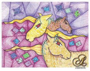 Horses Quilt