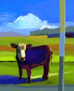 Faulkner cow one size print 38x30 lvljpz