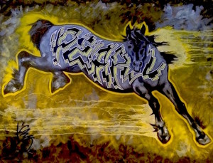 Liz chappie zoller iron horse i am the storm 36 x 48 oil wpyq5x