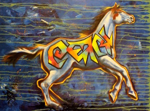 Liz chappie zoller iron horse warrior iii medicine hat 30 x 40 oil redznz