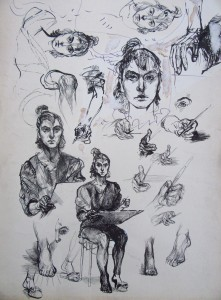 Selfportrait sketches