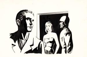 Galaxy Magazine - Tyrann Story Illustration