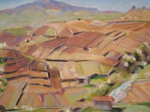 Le vignoble au-dessus de Saint-Saphorin, printemps