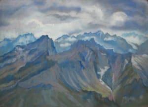 Alpes et ciel d'orage