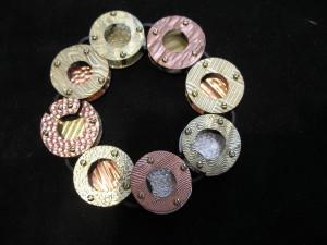 Circles, Screws, and Nuts Bracelet