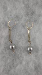 Silver Pearls Earrings