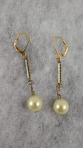 Yellow Pearls Earrings