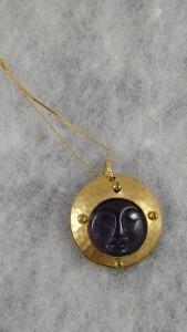 Purple Moon Face