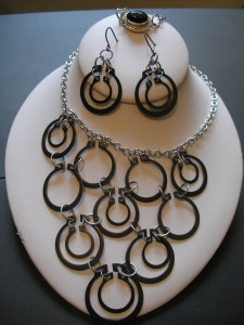 Black Gaskets Necklace