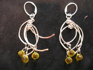 Beads and Half Circles Earrings