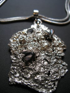 Bark with Fly Necklace