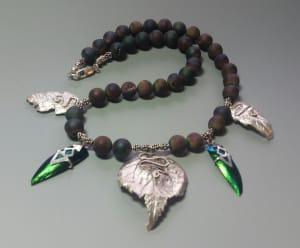 Rainbow Druse Agate Necklace