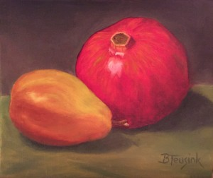 Pomegranate and Pear