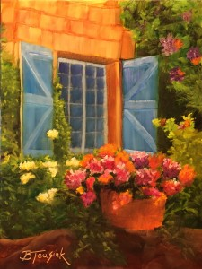 Blue Shutters (Study of Dreama Tolle Perry)