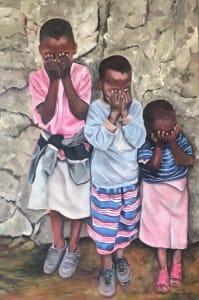 3 Children Praying - Sold