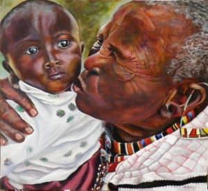 Loving Touch Maasai Grandma and Baby