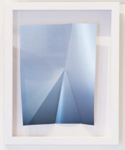 Metallic Blue Lustre #2 w/folds