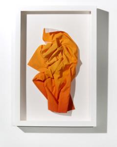 Orange crumpled