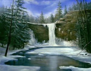 Awosting Falls- Winter