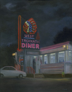 Quiet night at the Diner,  West Taghkanic Diner