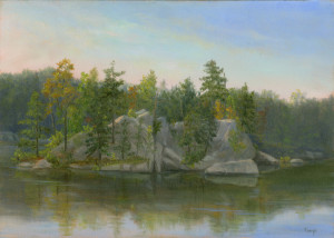 Sanctuary Pond, Early Autumn- John Burrows Slabsides
