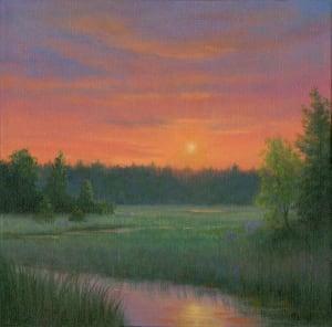 Sundown over the Marsh