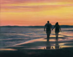Sunset Walk-couple on the beach