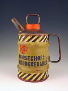 Horseshoes and Handgrenades Tea Can