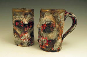 Group of Skull Mugs