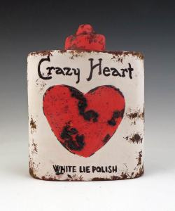 Crazy Heart White Lie Polish Canister