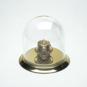 Margay Skull in Gold Leaf