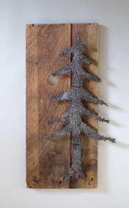 fir tree with moon