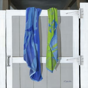 Blue and Green Beach Towels