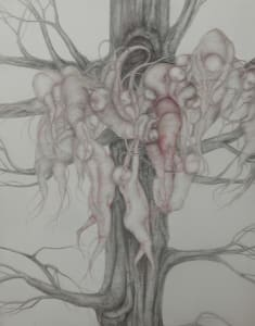 Dimitrina kutriansky a strange predicament silverpoint with colored pencil 21x17 hpzv9c