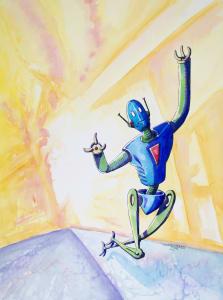 Tripping Skipping Robot