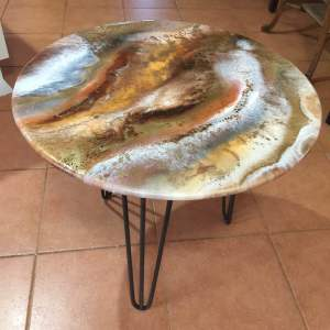Brown, Gold, Bronze Coffee/Patio Table 60cm