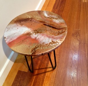 Brown, Bronze & Gold Coffee Table 1