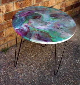 Patio Table - Green & Plum