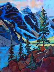 Early light moraine lake   acrylic  30x40  2015 whxnwe