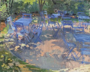 Blue Chairs at the Dixon Gardens