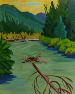 Eagle river 16 x 20 nkakih