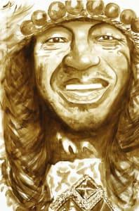 Bo Dollis Jazz Fest Poster Face Sketch