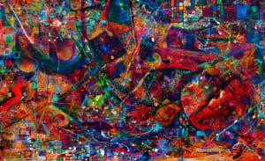 Abstract DropCloth Vortex II