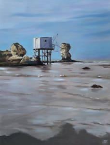 Carrelet à marée basse