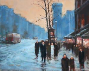 Paris Street, Snow (homage to EC)
